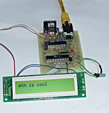 LCD Control with Ethernet