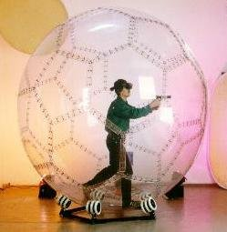 Giant hamster-ball for humans