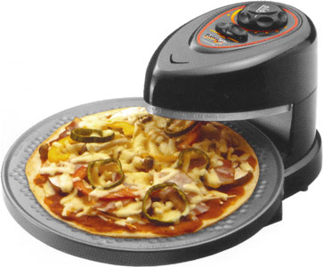 Open air rotating pizza-oven