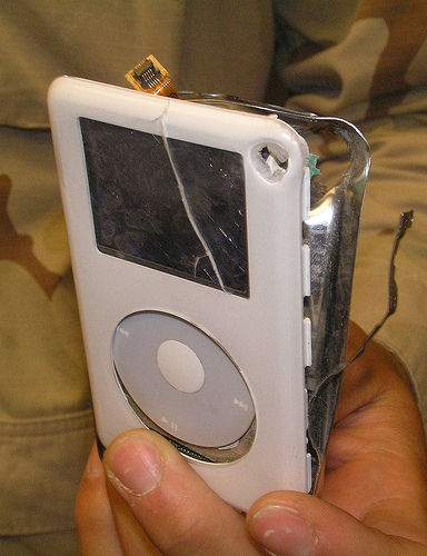 Use iPod as bullet-proof vest!2