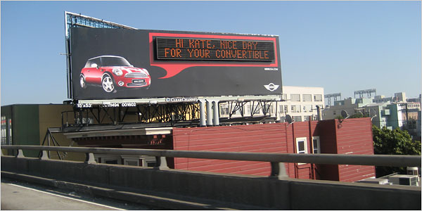 Mini Cooper Billboard in San Francisco