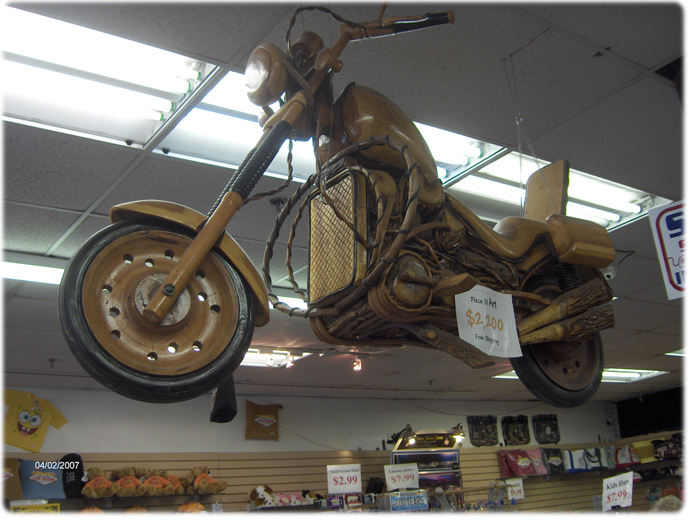 Motorcylcle made out of WOOD for $2200!