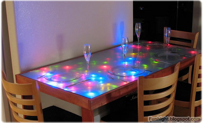 Color Full Halo Lighting Table