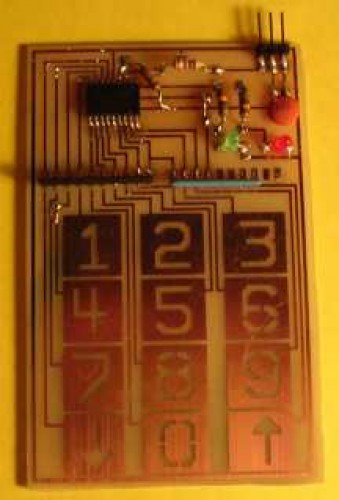PIC Microcontroller Touch Keypad
