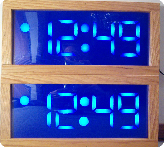 DIY HACK - HOWTO make your GIANT Blue LED Alarm Clock!