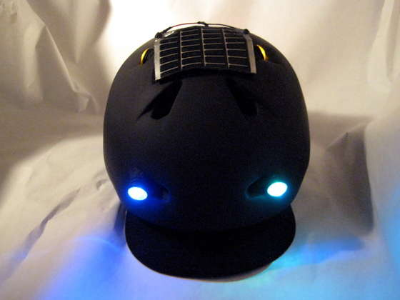 DIY HACK - HOWTO make a Solar-powered bike helmet with night lights!