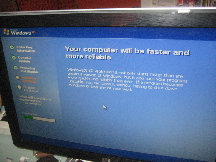 HOWTO Upgrade (or downgrade) from Vista to Windows XP!