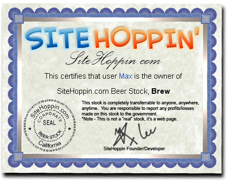 Beer Stock Market - Internet User Venture Capital!