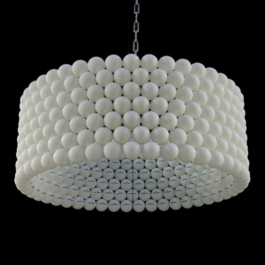 Bettine Lamp is made from 315 Ping Pong balls and my PC is made from 10 Golf Balls!