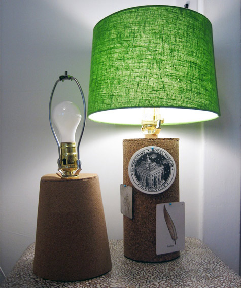 DIY - How to Make a Cork Lamp!