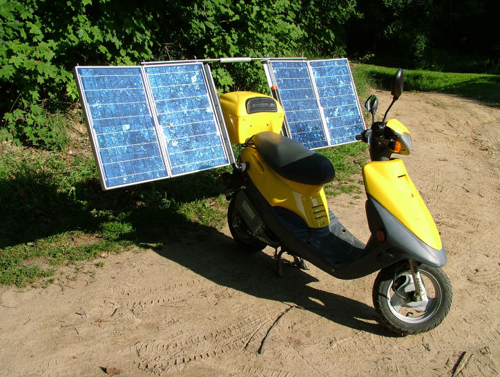 Don shows you how to build your own solar scooter . What a nice guy