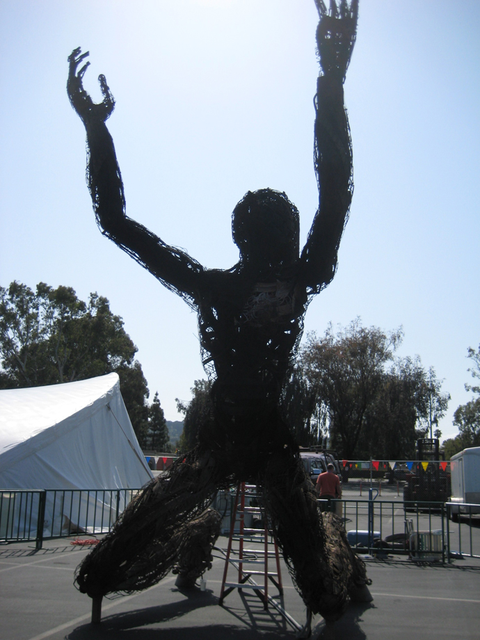 makerfaire-2 burning woman