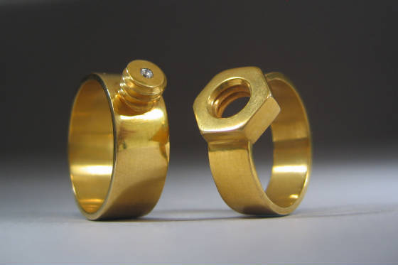 Nut and Bolt Ring for DIYers!