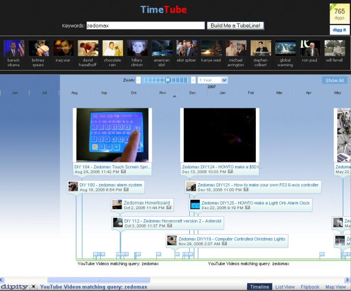 TimeTube - See YouTube Videos as Timeline in One Glance!