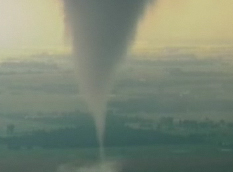 Live View of a Scary Tornado in Hennessey, Oklahoma
