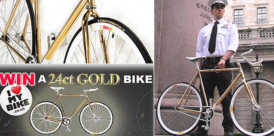 24K Gold-Plated Bike for Rich Snobs!