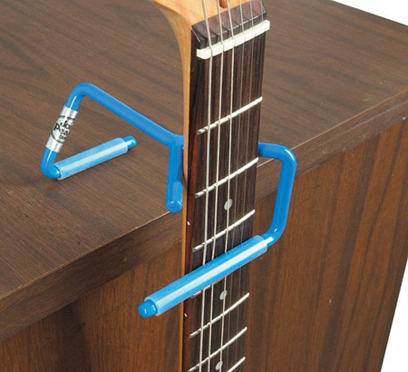 """Use \""""D Angle Guitar Hanger\"""" to Keep Your Guitar Safe From Fallin\'"""