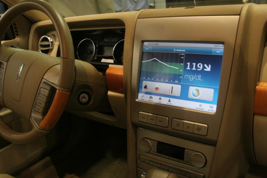 Concept Car for In-car Navigation Diabetes Monitoring System!