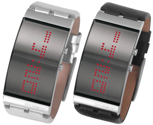 Diesel Scrolling LED Watch!