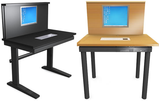 iDesk embeds LCD display and the keyboard!