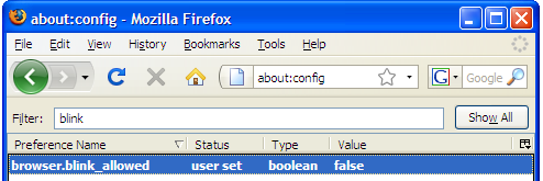 Firefox 3 Hack - How to Disable Blinking Text in Firefox!