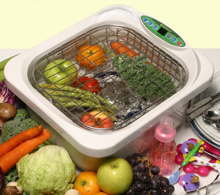Ultrasonic Food Washer removes 98% of Bacteria!