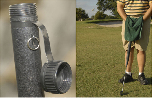 UroClub let\'s you pee discreetly while Golfing!