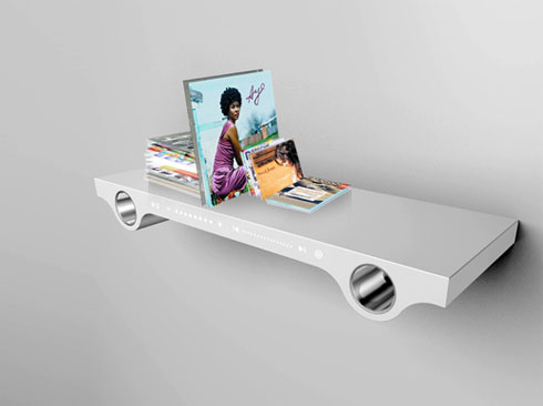 Wall Shelf with built-in MP3 Player!
