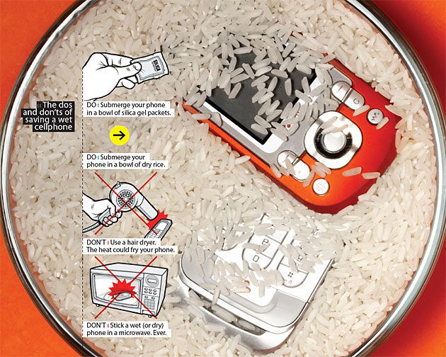 DIY - How to Dry Your Cellphone with Rice!