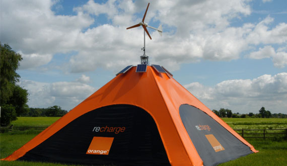 Wind and Solar Power Tent!