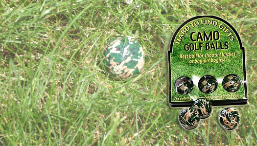 Camouflage Golf Balls Makes Golf Easier!
