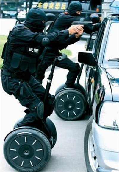 Chinese SWAT Team trains on Segways