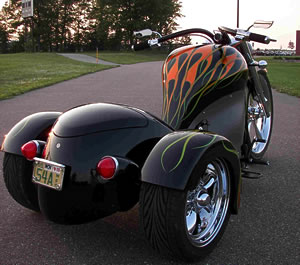Cosmo Trike is a 3-Wheeled Hot Rod Motorcycle!