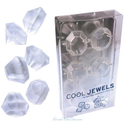 Jewel Ice Cube Tray Makes Ice Cubes That Look like Diamonds!