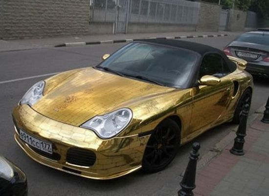 Gold Porsche 911 from Russia!