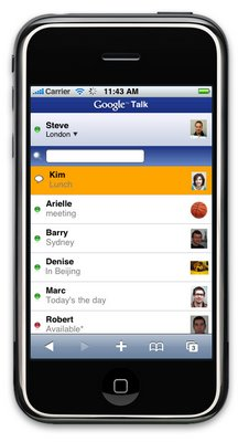 Google Talk for the iPhone