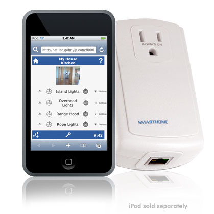 Control Your House with an iPhone using INSTEON Central Controller!