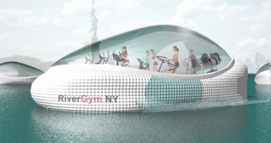 Human Powered Mobile River Gyms for New York!