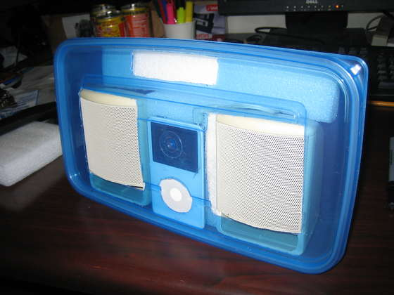 DIY - How to Build your own Tupperware iPod Boombox!