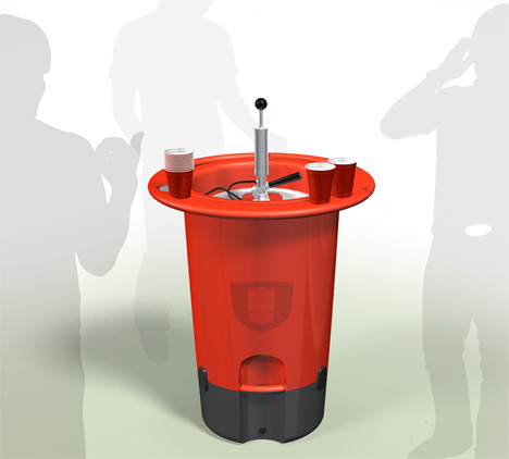Design - Innovative Keg Stand lets your Keg blend to the environment!