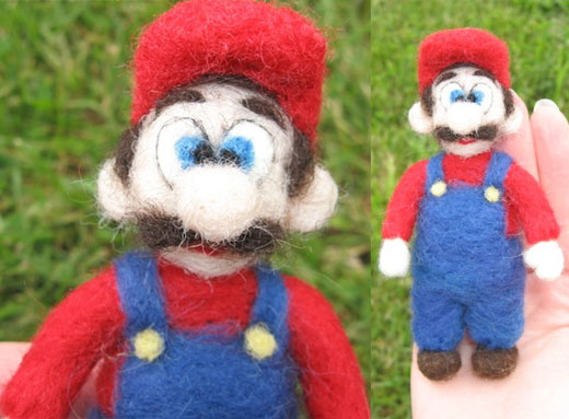 Mario Toys made out of Sheep\'s Wool!
