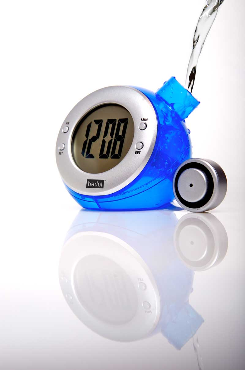 Eco Friendly And Green Water Powered Alarm Clock
