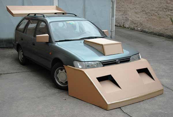Cardboard Wings and parts for Better Aerodynamics!