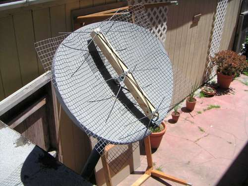 DIY - How to Build Your Own HDTV Antenna and use Direct TV Satellite as Mount!