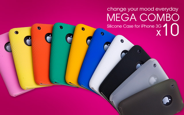 Colorful Set of 10 iPhone 3G Silicon Cases!