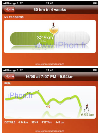 iPhone Nike+ Interface Leaked!