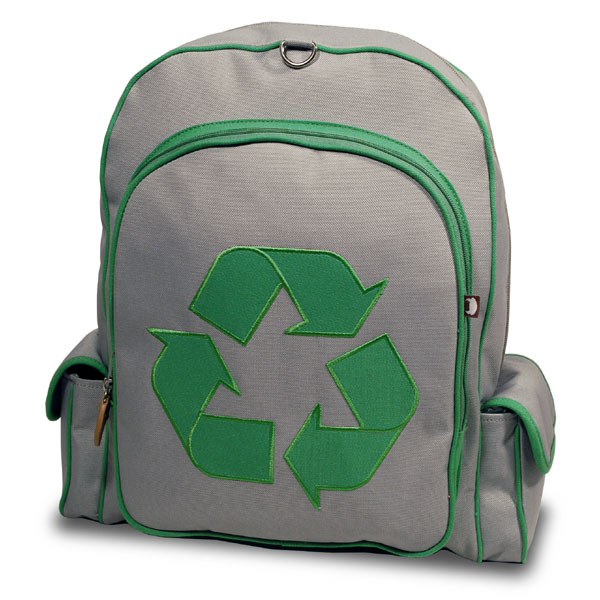 Recycle-Themed Backpack