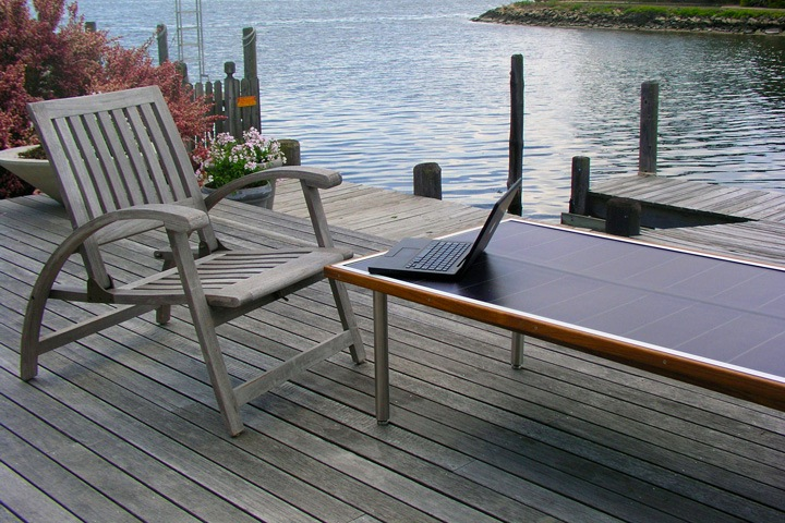 Sun Table for Outdoor Laptopping!
