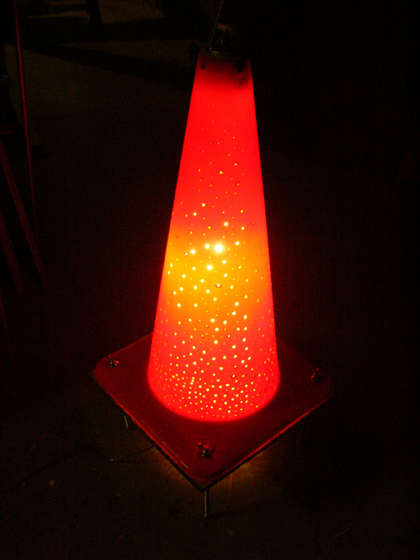 DIY - How to Build a Traffic Cone Lamp!