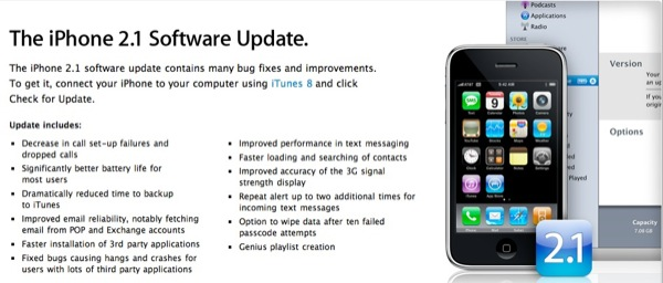 iPhone Firmware 2.1 Update is Out!